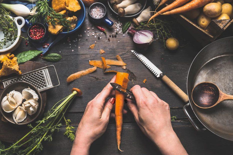 épluchures légumes