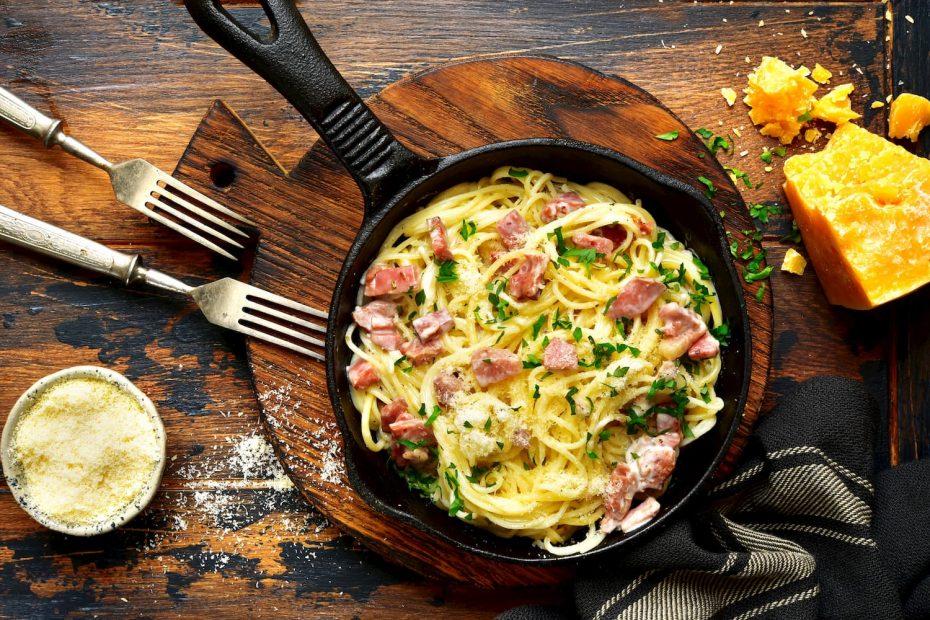 spaghetti carbonara à l'italienne