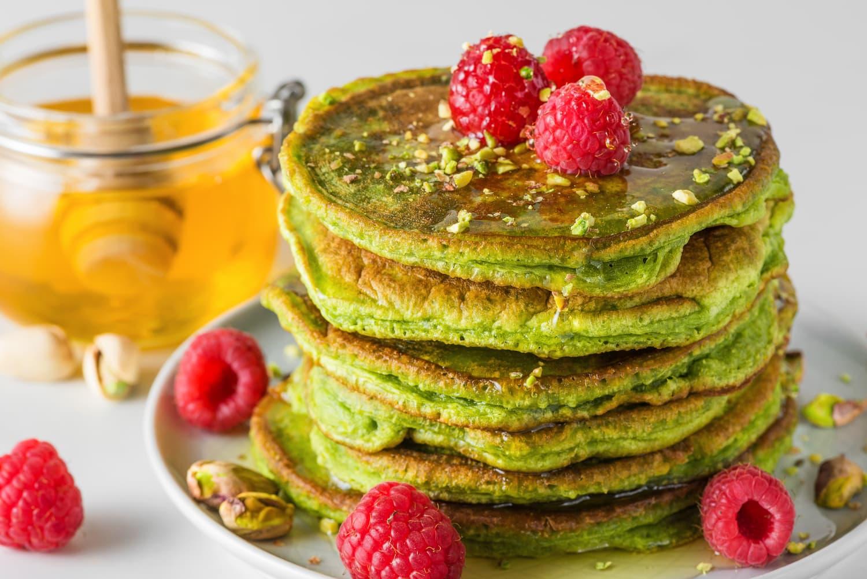 pancakes thé vert matcha