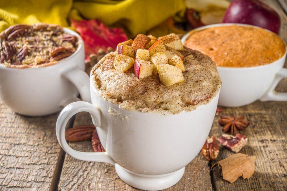 mug cake pommes