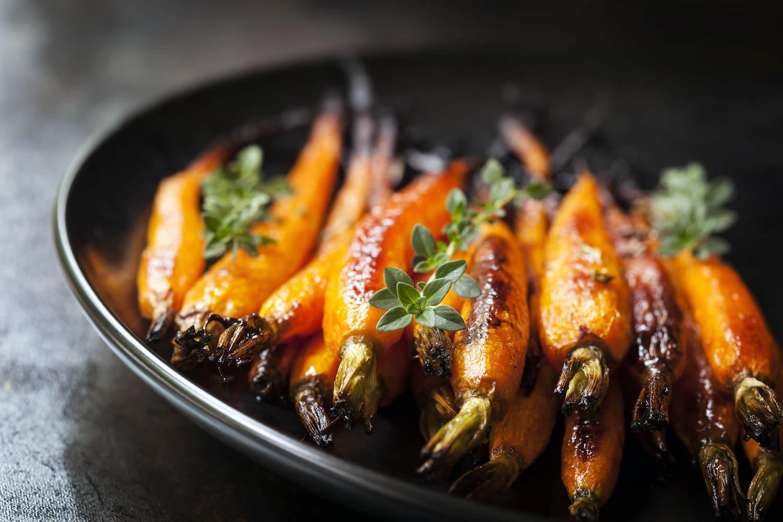 carottes roties four