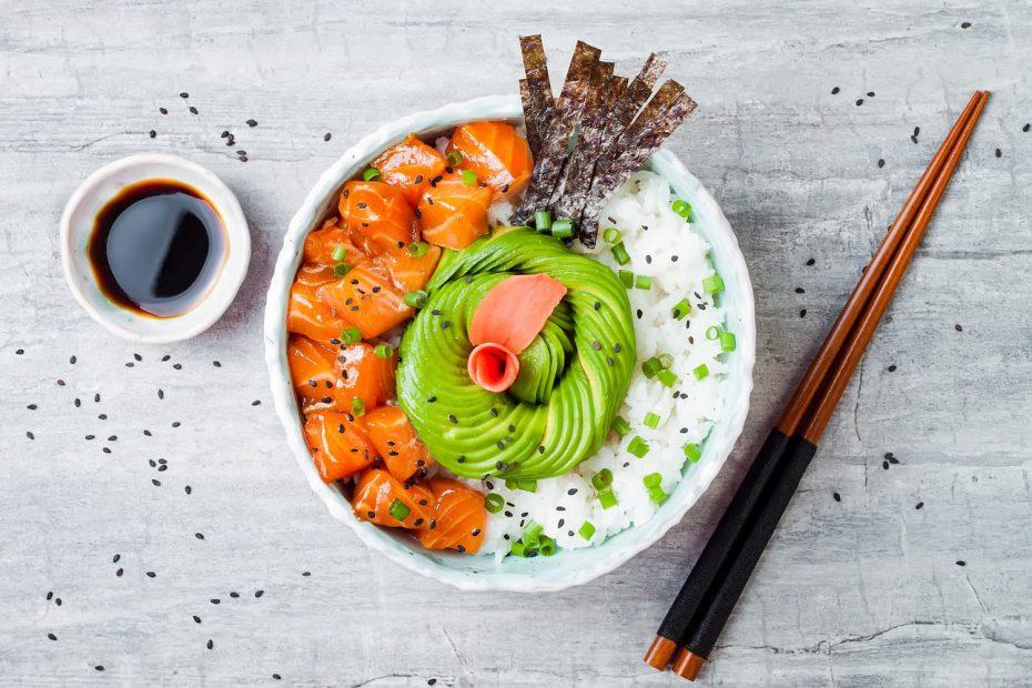 recette poke bowl healthy
